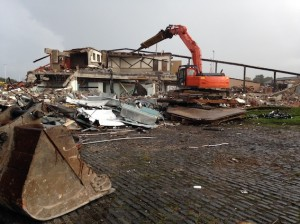 South Leeds Sports centre was demolished in autumn. Photograph: Jeremy Morton/southleedslife.com